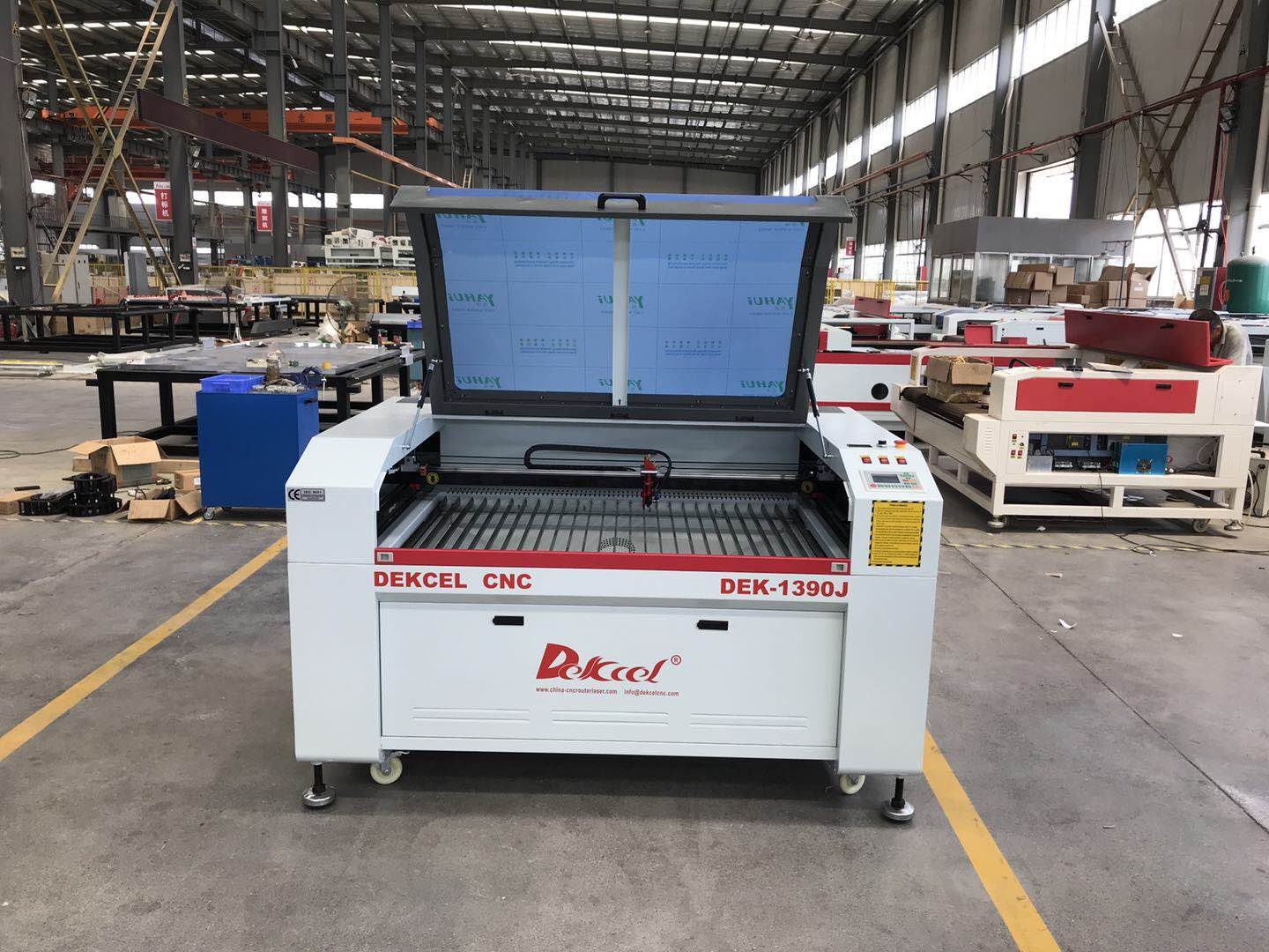 New cnc laser engraving machine ready ship to US from china