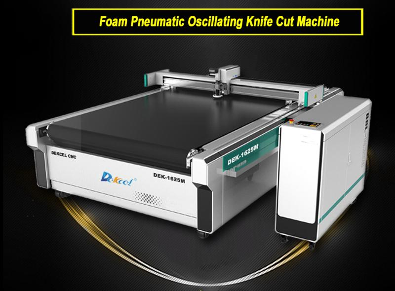 foam pneumatic oscillating cut machine