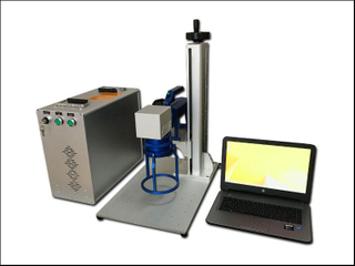 Hand held metal and plastic portable fiber laser marking machine