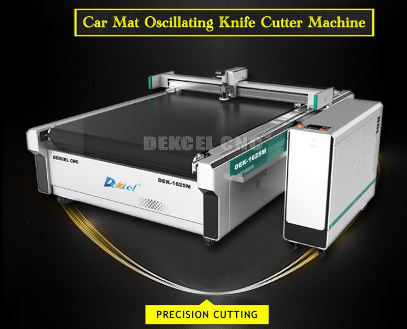 PVC coil spring car floor mat oscillating knife cnc cutting machine
