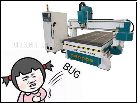 The common errors users usually meet for wood cutting cnc rotuer cutter machine