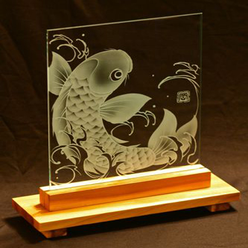 cnc Co2 laser engraver for home glass decoration