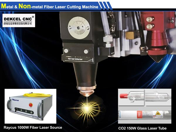 Fiber laser cutting machine used in advertising industry cutting thin metal
